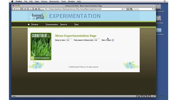 Exploring configuration variables: Creating Dynamic Menus