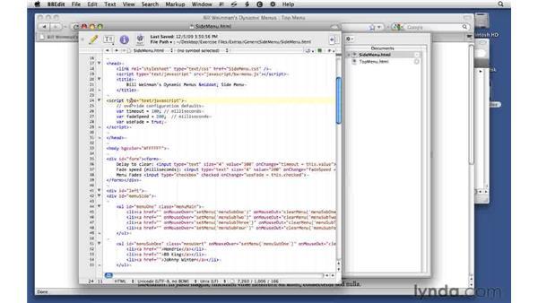 Exploring examples of other menu layouts: Creating Dynamic Menus