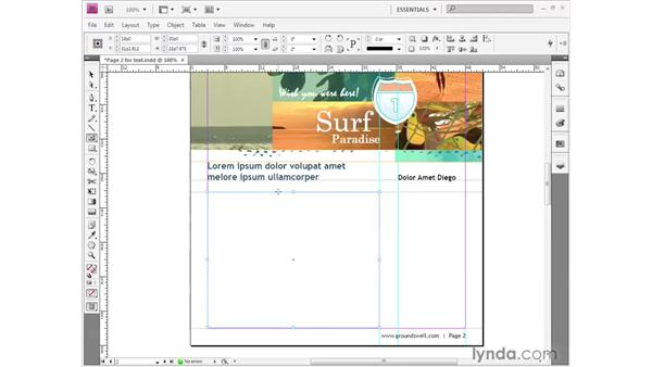 Making a text frame: InDesign CS4 Getting Started