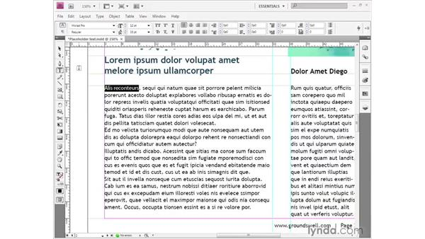 Character-level formatting: InDesign CS4 Getting Started