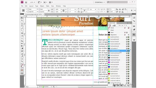 Coloring type: InDesign CS4 Getting Started