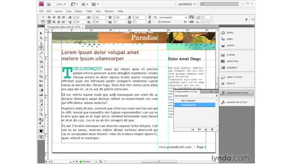 Making a paragraph style: InDesign CS4 Getting Started