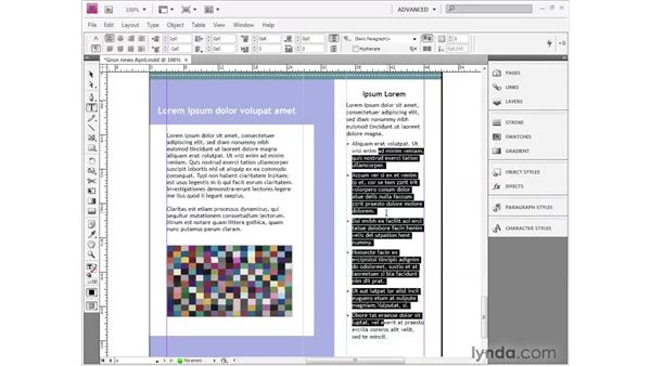 Bullets and numbers: InDesign CS4 Getting Started
