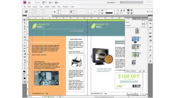 Using master pages: InDesign CS4 Getting Started