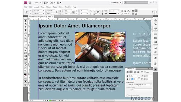 Wrapping text around a graphic: InDesign CS4 Getting Started