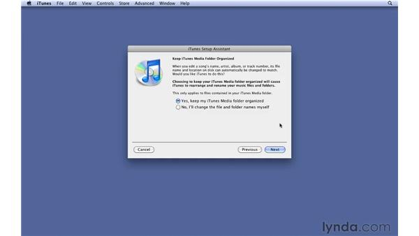 Opening iTunes for the first time: iTunes 9 Essential Training