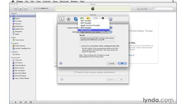 Understanding file formats: iTunes 9 Essential Training