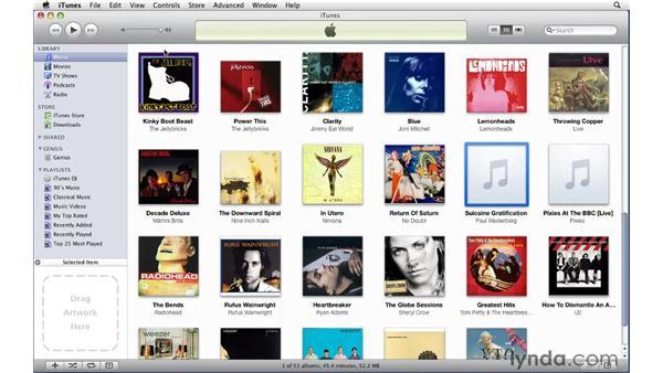 Finding and adding album artwork: iTunes 9 Essential Training