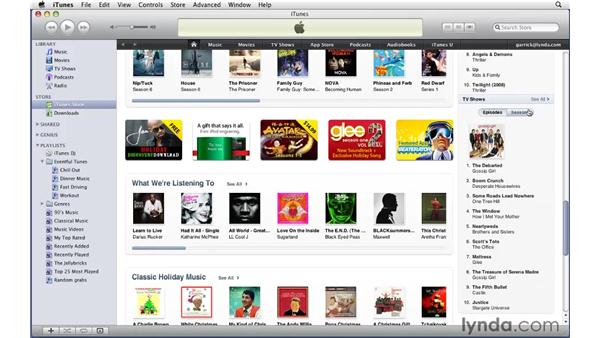 Store overview: iTunes 9 Essential Training