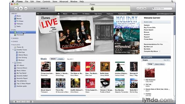 Redeeming iTunes gift certificates: iTunes 9 Essential Training