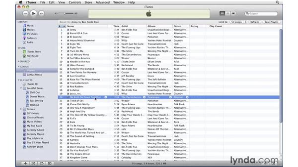 Using the Genius Sidebar and creating Genius playlists: iTunes 9 Essential Training