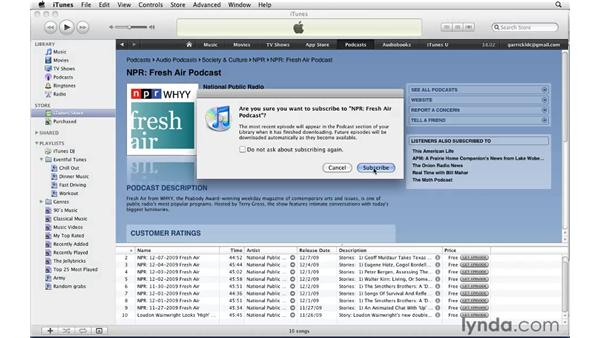 Finding and subscribing to podcasts: iTunes 9 Essential Training