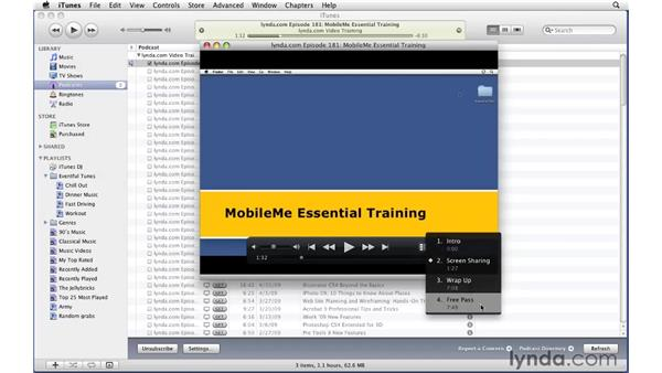 Listening to and interacting with enhanced podcasts: iTunes 9 Essential Training