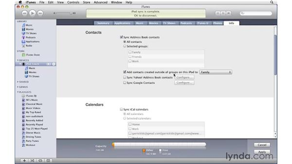Additional iPod Touch and iPhone features: iTunes 9 Essential Training