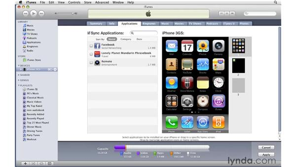 Transferring purchased music from an iPhone or iPod Touch to iTunes: iTunes 9 Essential Training
