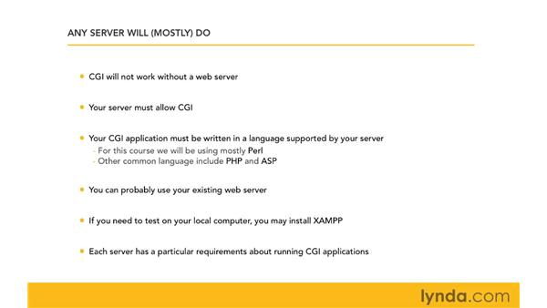 Understanding server requirements: CGI Essential Training