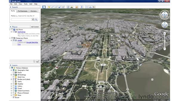 Downloading models from Google Earth: SketchUp 7 New Features