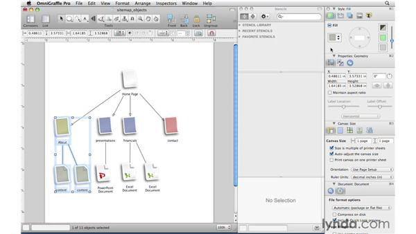 Understanding objects in OmniGraffle: OmniGraffle Professional 5 Essential Training