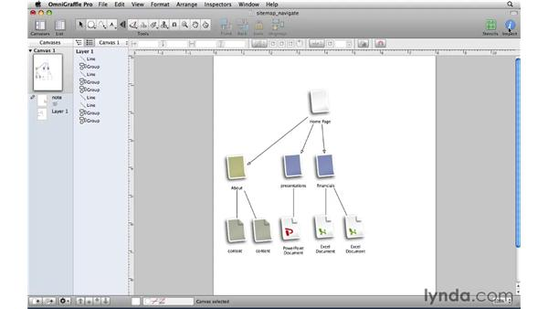 Navigating the interface: OmniGraffle Professional 5 Essential Training