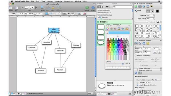 Styling shapes: OmniGraffle Professional 5 Essential Training