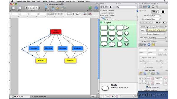 Styling lines: OmniGraffle Professional 5 Essential Training