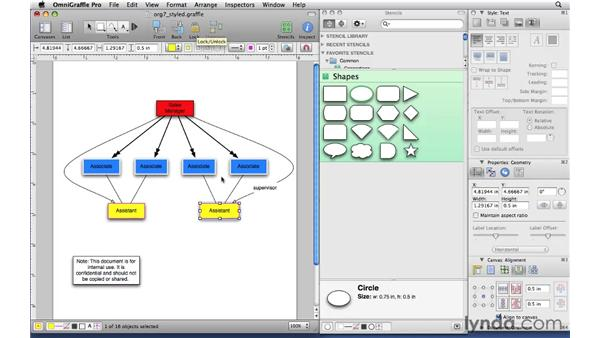 Locking and unlocking elements: OmniGraffle Professional 5 Essential Training