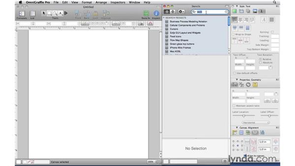 Finding and installing stencils: OmniGraffle Professional 5 Essential Training