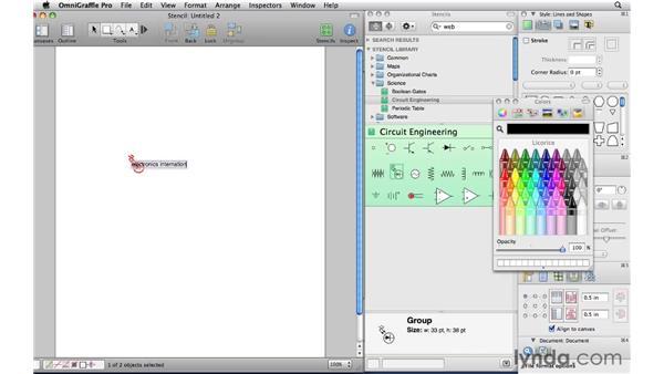 Creating a custom stencil: OmniGraffle Professional 5 Essential Training
