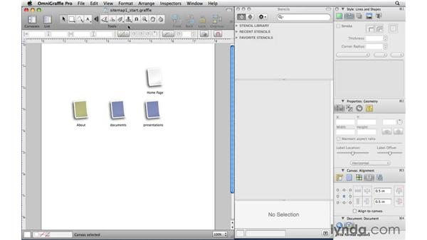 Replicating shapes with the Rubber Stamp tool: OmniGraffle Professional 5 Essential Training