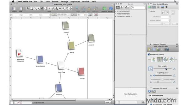 Using automatic layouts: OmniGraffle Professional 5 Essential Training