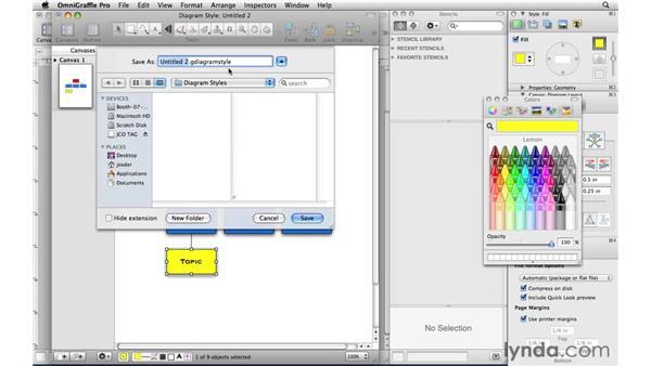Creating your own diagram styles: OmniGraffle Professional 5 Essential Training