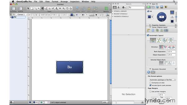 Quickly building a diagram with the Outline sidebar: OmniGraffle Professional 5 Essential Training