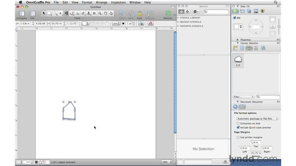 Drawing custom shapes with the Pen tool: OmniGraffle Professional 5 Essential Training