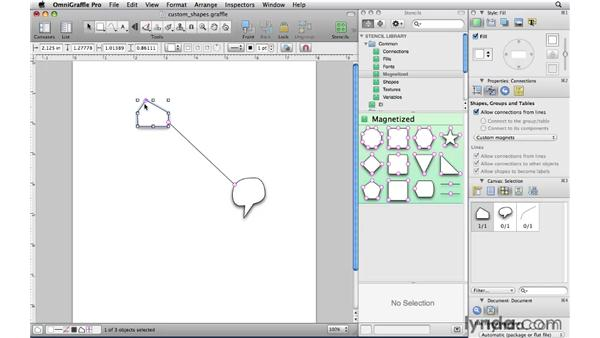 Controlling connections with magnets: OmniGraffle Professional 5 Essential Training