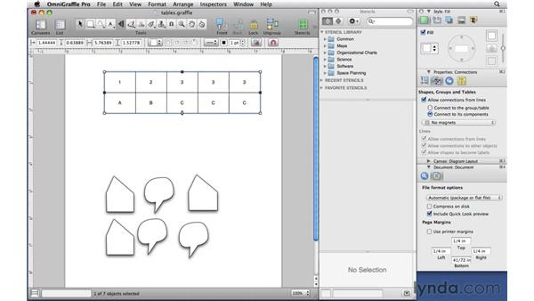 Creating tables: OmniGraffle Professional 5 Essential Training