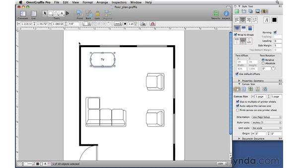 Adjusting rulers and unit scale: OmniGraffle Professional 5 Essential Training