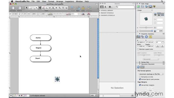 Importing images: OmniGraffle Professional 5 Essential Training