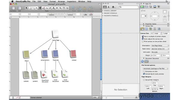 Printing: OmniGraffle Professional 5 Essential Training