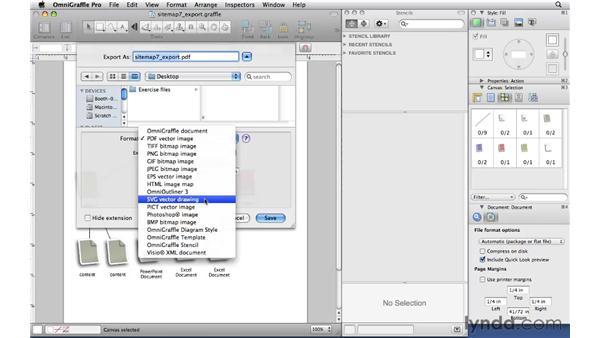 Exporting : OmniGraffle Professional 5 Essential Training