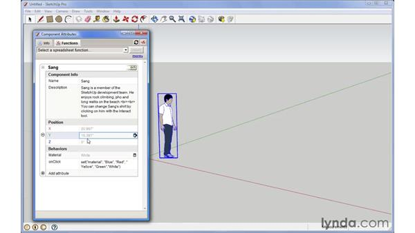Using the Component Attributes window: SketchUp Pro: Tools and Techniques (2010)