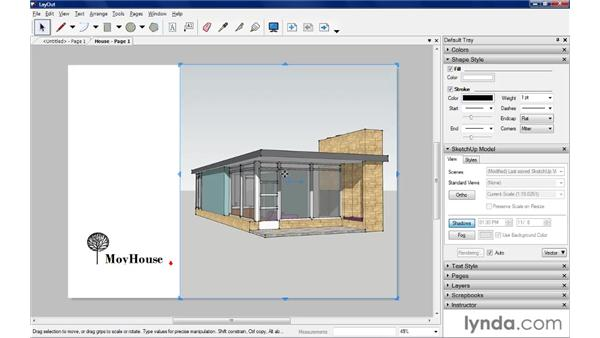 The LayOut interface: SketchUp Pro: Tools and Techniques (2010)