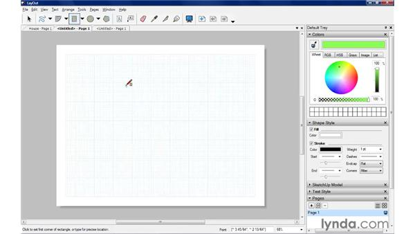 Drawing rectangles: SketchUp Pro: Tools and Techniques (2010)