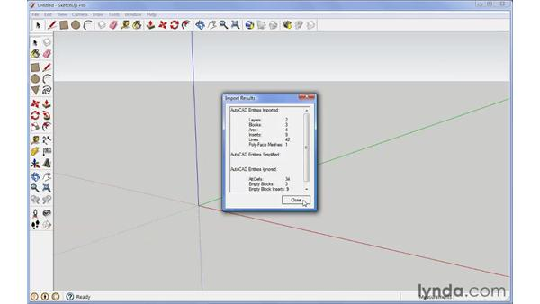Importing other 3D objects: SketchUp Pro: Tools and Techniques (2010)