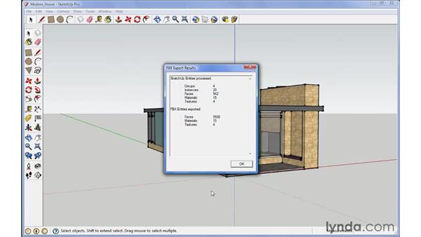 Exporting objects: SketchUp Pro: Tools and Techniques (2010)