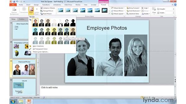Perfecting presentation images: PowerPoint 2010: Real-World Projects