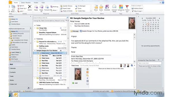 Focusing in on conversations with the new views: Outlook 2010: Real-World Projects