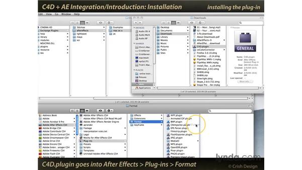 Installing the CINEMA 4D plug-in into After Effects: CINEMA 4D and After Effects Integration