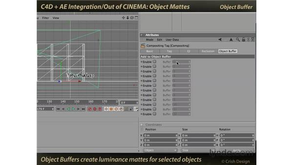 Object mattes: CINEMA 4D and After Effects Integration