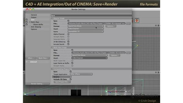 Save and render: CINEMA 4D and After Effects Integration