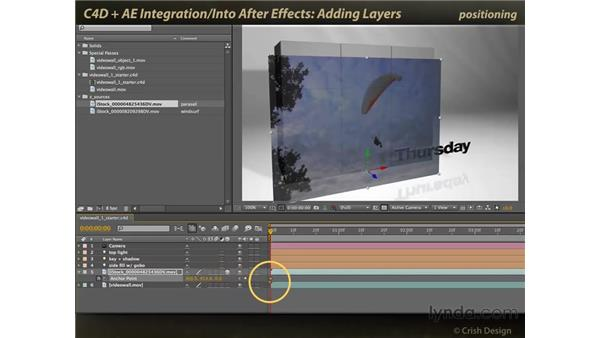 Adding layers: CINEMA 4D and After Effects Integration